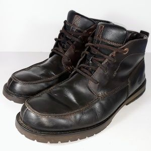 Timberland Mens Dark Brown Leather Lace Up Boots